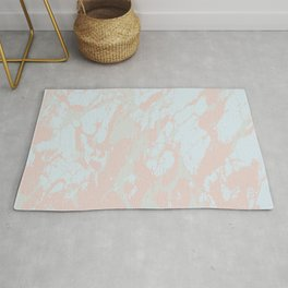 Marble Abstract Blue Rug