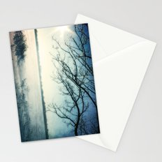 Snow Covered Lake Stationery Cards