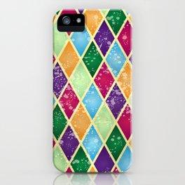 Rainbow harlequin iPhone Case