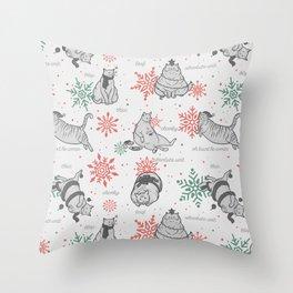 Christmas Chonks | White Pattern Throw Pillow