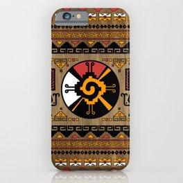 Colorful Hunab Ku Mayan symbol #5 iPhone Case