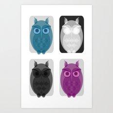 Owlies Art Print