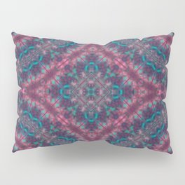 Mandala . Kaleidoscope .Pink blue . Pillow Sham
