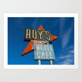 Roy's Motel & Cafe Art Print