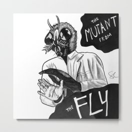 The Mutant from the Fly Metal Print