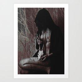 Loss in the dark Art Print
