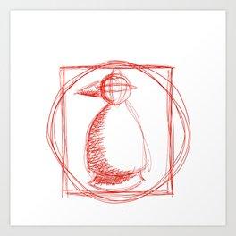 Metaphysical Penguin Vetruvian Penguin Art Print