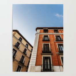Madrid Old Buildings Poster