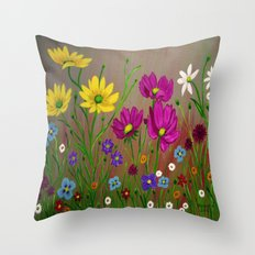 Spring Wild flowers  Throw Pillow
