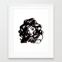 queen Framed Art Prints featuring Queen by NoodleBeri