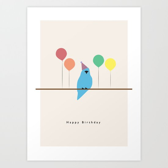 Birthday Birds Art Print
