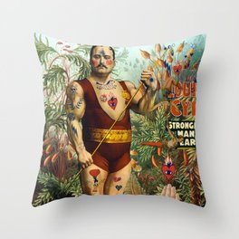 the strongest man of the world Throw Pillow
