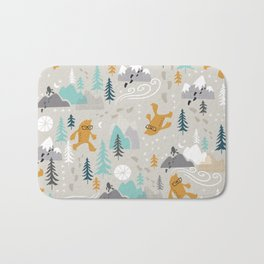 Sasquatch Stomp Bath Mat