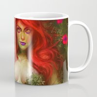 poison ivy Mugs featuring Poison Ivy by MATT DEMINO