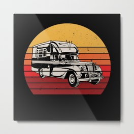 American Retro Camper Gift Idea Design Motif Metal Print