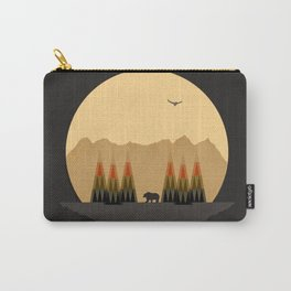 The Bear Versus the Mountain Carry-All Pouch