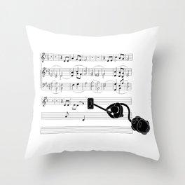 Vacuum sound Throw Pillow