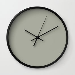 Simply Retro Gray Wall Clock