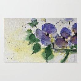 purple flowers 2 Rug