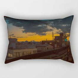 Tokyo Nights / Sunset over Fuji / Liam Wong Rectangular Pillow