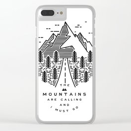 The mountains are calling and I must go- Nordic Clear iPhone Case