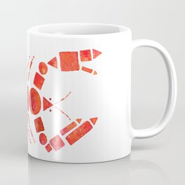 Geometric Lobster Coffee Mug