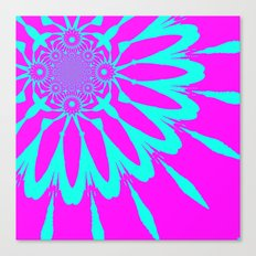 The Modern Flower Fushia & Turquoise Canvas Print