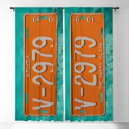 1999 Aruba License Plate One Happy Island Tag Blackout Curtain