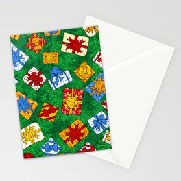 Christmas gifts pattern Stationery Cards