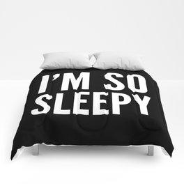I'M SO SLEEPY (Black & White) Comforters
