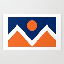 Denver Flag Broncos Style Art Print