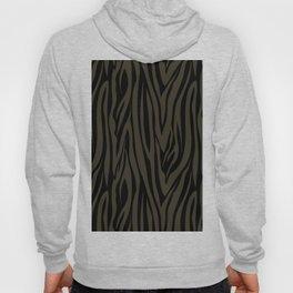 Sophisticated Black and Grey Zebra Print Pattern Hoody