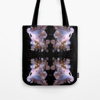 cosmos Tote Bags featuring Cosmos by Spooky Dooky