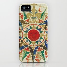 Vintage Compass Rose Diagram (1502) iPhone Case