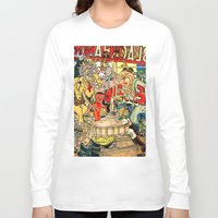 lichtenstein Long Sleeve T-shirts featuring the daily lives of hungry ghosts by Lanny Quarles