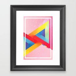 Happy Triangles Framed Art Print