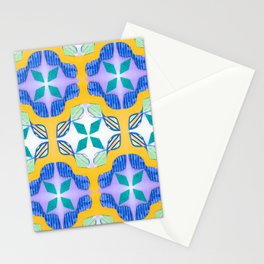 Bow Tie Tile in purple Stationery Cards