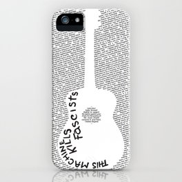 On Practicing (Guitar Poster) iPhone Case