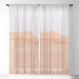 Desert Abstract II Sheer Curtain