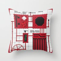 rocky horror Throw Pillows featuring Rocky Horror Control Panel by Shawn Hall Design