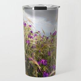 Wild Flower and Clouds Travel Mug