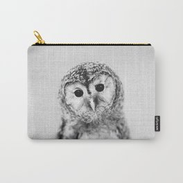 Baby Owl - Black & White Carry-All Pouch