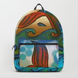 Beach Whale Tail Abstract Backpack