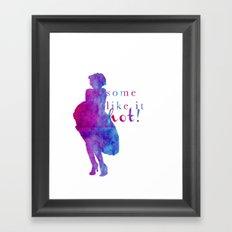 Marilyn Monroe Some Like It Hot! Framed Art Print