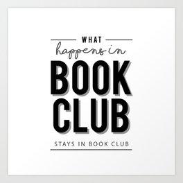 What happens in Book Club Art Print