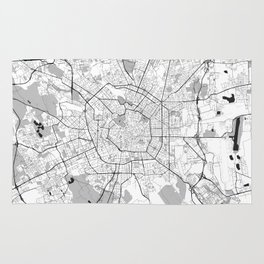 Berlin Map Gray Rug