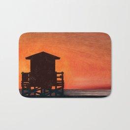 Lifeguard Sunset Bath Mat