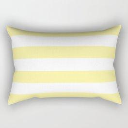 Simply Stripes in Pastel Yellow Rectangular Pillow