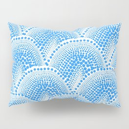 Many Blue Dots, White Background Pillow Sham