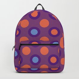 Purple And Orange Circle Geometric Patterns Backpack